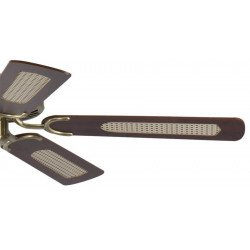 ceiling fan, classic, silent, 132 Cm. antique brass body mahagoni blades Potkuri Pepéo.