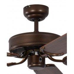 ceiling fan, classic, silent, 132 Cm. abody painted antique bronze walnut color blades Potkuri Pepéo.