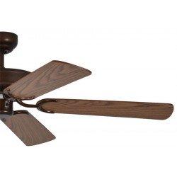 ceiling fan, classic, silent, 132 Cm. a body painted antique bronze oak color blades Potkuri Pepéo.