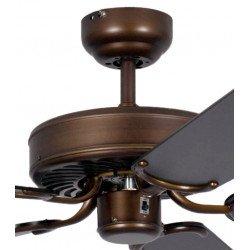 ceiling fan, classic, silent, 132 Cm. abody painted antique bronze black color blades Potkuri Pepéo.
