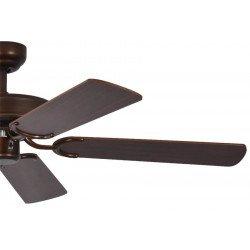 ceiling fan, classic, silent, 132 Cm. abody painted antique bronze mahogany blades Potkuri Pepéo.