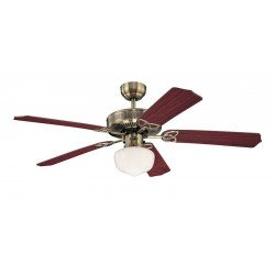 Ceiling Fan, 132 cm, antique brass body, double-sided blades