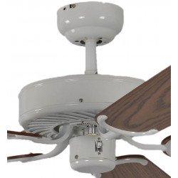 ceiling fan, classic, silent, 132 Cm.white lacquer oak blades Potkuri Pepéo.