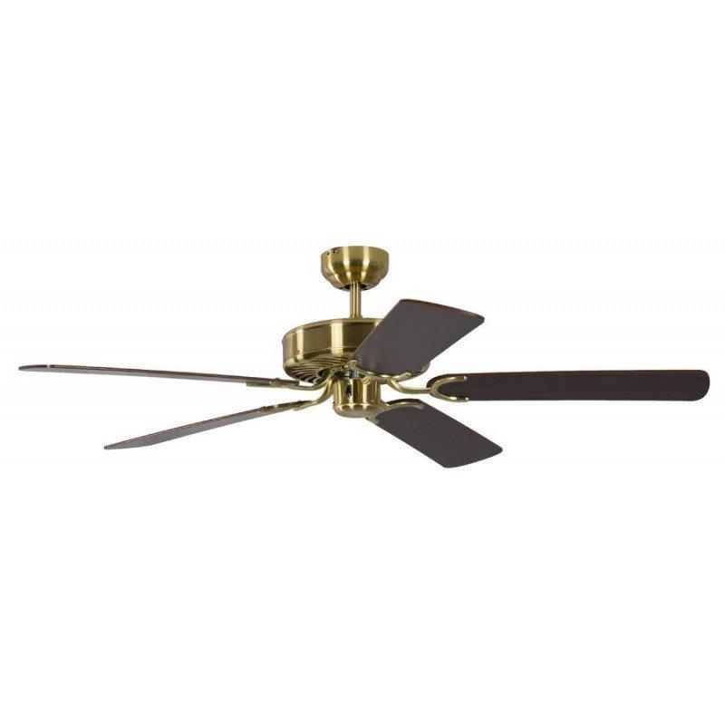 ceiling fan, classic, silent, 132 Cm.antique brass mahagoni blades Potkuri Pepéo.