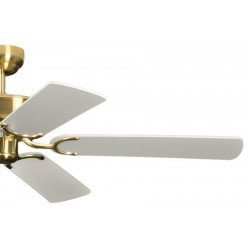ceiling fan, classic, silent, 132 Cm.antique brass white colored blades Potkuri Pepéo.