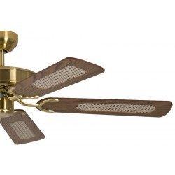 ceiling fan, classic, silent, 132 Cm.antique brass oak blades Potkuri Pepéo.