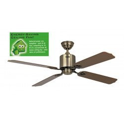 Ceiling Fan 132 cm Solar 12V, ideal for a solar installation Antique Brass.