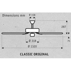 Hunter ceiling fan Classic 132 Cm Original Sw, black engine, blades Walnut / Cherry