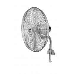 Оscillating high velocity fan, high performance 70 Cm, 123 Watts, chrome. Casafan, wind machine WM2 Wall Ecogarantie 3 years