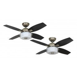 modern ceiling fan with light 107 cm silver matte Hunter Central Park