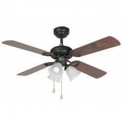 Ceiling fan, classic, brown, with light, 107 cm FARO, Lisbon 33102