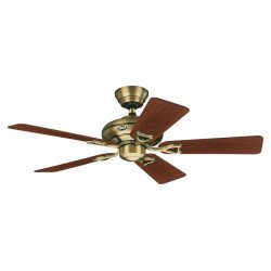 ceiling fan, classic, bronze motor housing blades clear oak and walnut, silent, 112 cm Hunter Seveille