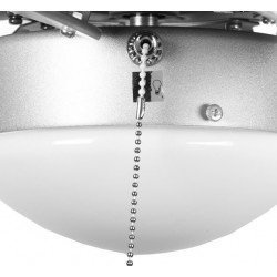 Ceiling fan, gray, 81 cm. with integrated light gray FARO PALAO 33186