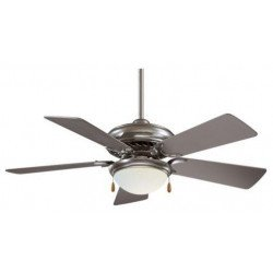 Ceiling Fan 132 cm, brushed brass body, simple wooden blades.