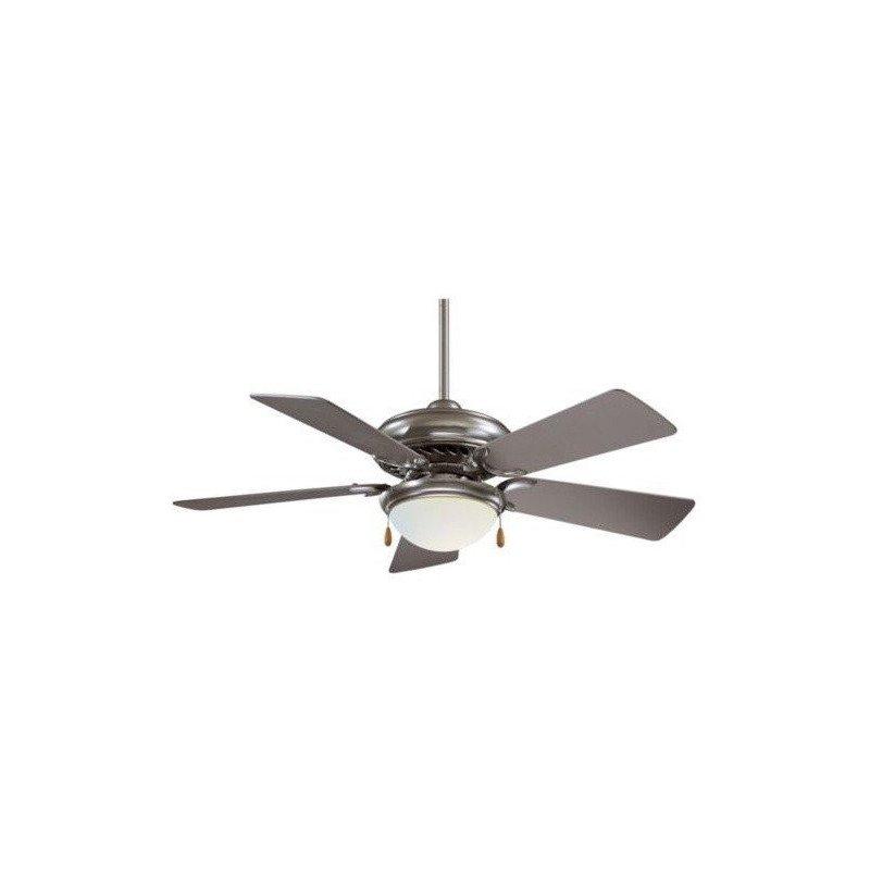 Ceiling Fan 132 cm, brushed brass body, simple wooden blades.