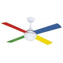 Ceiling fan Children 105 Cm silent and light colored blades and remote control