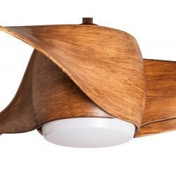 Designer Ceiling fan 127 Cm with LED light, reversible, wooden blades, remote control