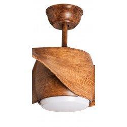 Designer Ceiling fan 127 Cm with LED light, reversible, wooden blades, remote control