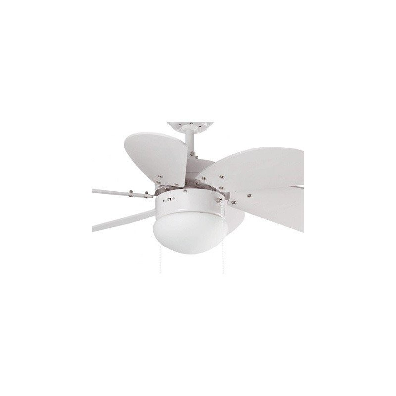 Ceiling fan, white, 81 cm. with integrated light white lighthouse PALAO 33180