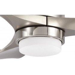 DC ceiling fan, design, silver, 103 Cm led light remote control.