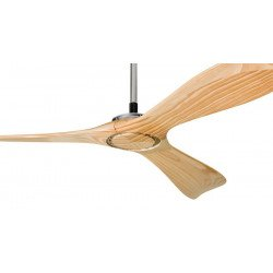 design ceiling fan 182 Cm. with laminated spruce massive blades, chrome and remote, LBA HOME
