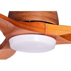 Ceiling fan desgn 132 Cm with LED lamp remote reversible solid wood blades.