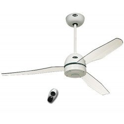 Ceiling fan with remote control, modern, 132 Cm, white, white acrylic blades 2, 3 or 4 blades Casafan
