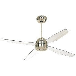 Ceiling fan modern, 132 Cm. 2.3 or 4 blades white acrylic Casafan