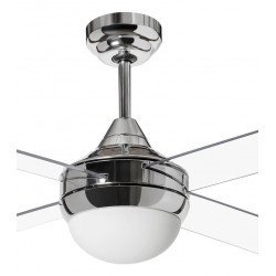 Modern Ceiling Fan 122 cm acrylic satin chrome and blades and remote control