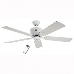 DC Ceiling Fan 132 Cm, Eco Elements WE, White lacquered white blades