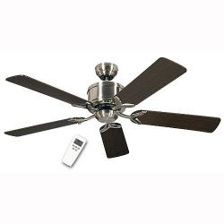 DC Ceiling Fan 132 Cm, Eco Elements BN satin chrome blades Wenge / Maple
