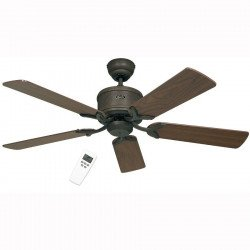 DC Ceiling Fan 132 Cm, Eco Elements BA Brown antique, blades beech / walnut.