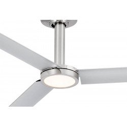 FARO Tao LED Ceiling Fan Industrial Style Residential Nickel Mat DC Super Quiet and Low Power DC Motor