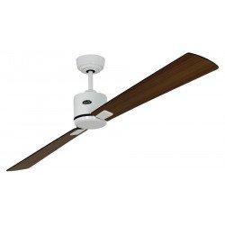 Ceiling Fan, DC, 180 Cm. modern, white lacquer, walnut blades, wenge, remote CASAFAN Eco II Neo WE