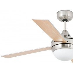 Modern ceiling fan 106 cm with light and IR remote control