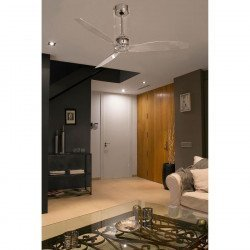 Ceiling Fan, design, DC, 33381 ETERFAN 130 cm clear glass and remote control