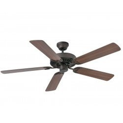 ALOHA Chocolate and TEAK / CHERRY - a classic ceiling fan for medium-sized rooms from 17 to 35 m²