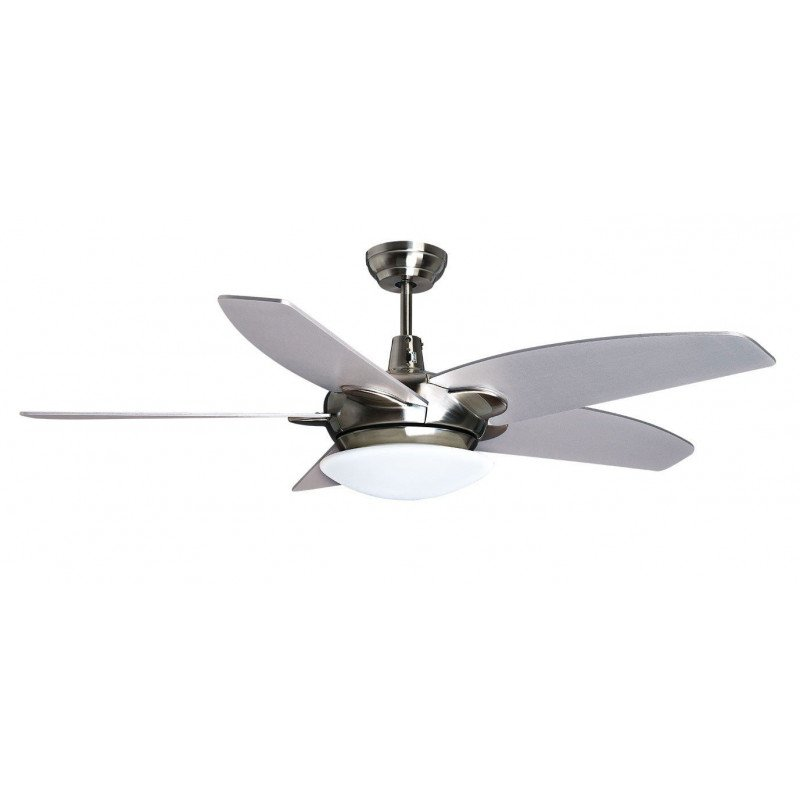 Purline by Klassfan, Farou Ceiling fan design blades silver / white 132 cm, with LED and remote control