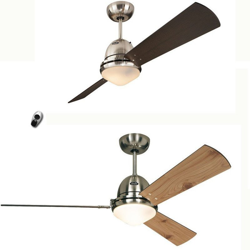 Libeccio ceiling fan, Chromed body, one product, 20 different fans!
