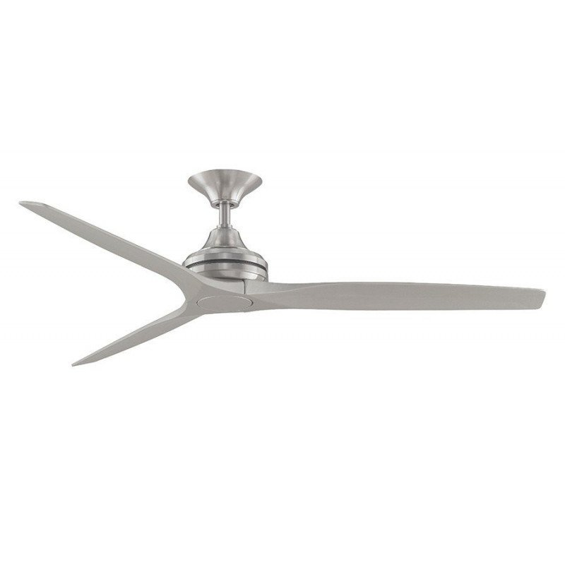 Ceiling fan 152 Cm Fanimation Spitfire Design, wooden blades silver gray lacquered 25 years warranty
