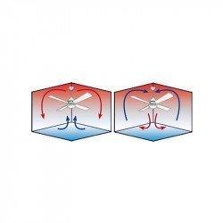 Ceiling fan 152 Cm Fanimation Spitfire Design, oiled walnut wood blades 25 years warranty