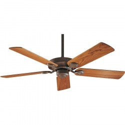 Hunter - Classic Ceiling Fan Weathered Brick and Genuine Teak for Outdoor Spaces ipX3, 132 cm