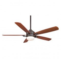 Ceiling fan 132 Cm Faimation The Benito, Modern design, remote control, with light, walnut blades, mahagoni