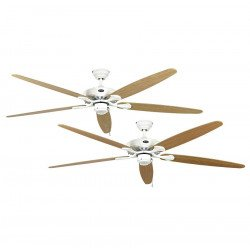 Ceiling fan, Royal WE, classic 180 Cm, White, blades Maple and beech, CASAFAN