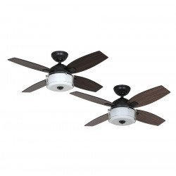 modern ceiling fan with light 107 cm black matte Hunter Central Park