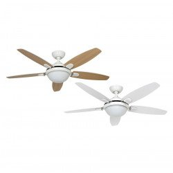 ceiling fan with light, quiet, modern white 132 cm Hunter Contempo.