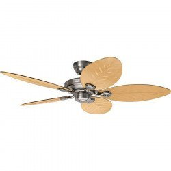 Outdoor ceiling fans IP44, aluminum and natural palm blades 132 Cm