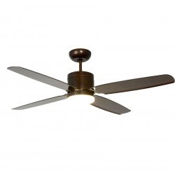Ceiling Fan DC, Design132 Cm Bronze. Abs brown translucent blades, Led included. Pepeo Turno BN