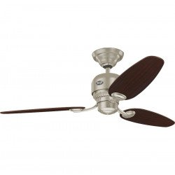 Hunter Soho - Modern Ceiling Fan Chrome with chocolate /maple blades, silent, 132cm/51.9""