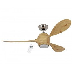 Eco Fiore 142 Cm design ceiling fan blades and motor printed spruce, led light